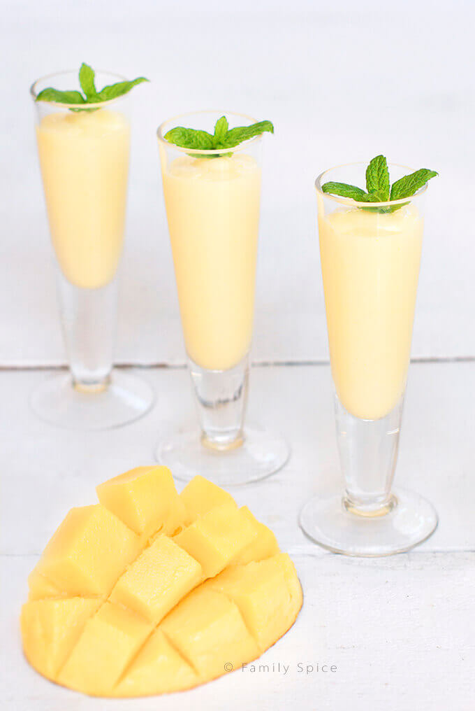 Mango Rum Smoothie Shots by FamilySpice.com