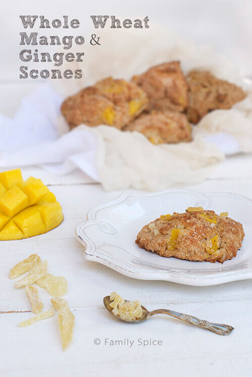 Whole Wheat Mango and Ginger Scones by Familyspice.com