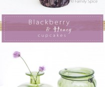 Baking with Honey: Blackberry & Honey Cupcakes by FamilySpice.com