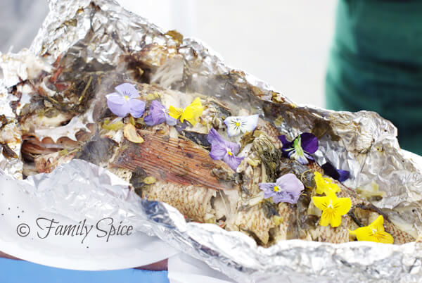 Hillcrest Farmer's Market: Steamed Fish with Herbs & Flowers