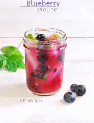 Sipping on a Blueberry Mojito