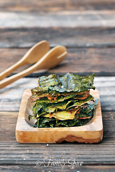 healthy snacking habits for kids: swiss chard chips