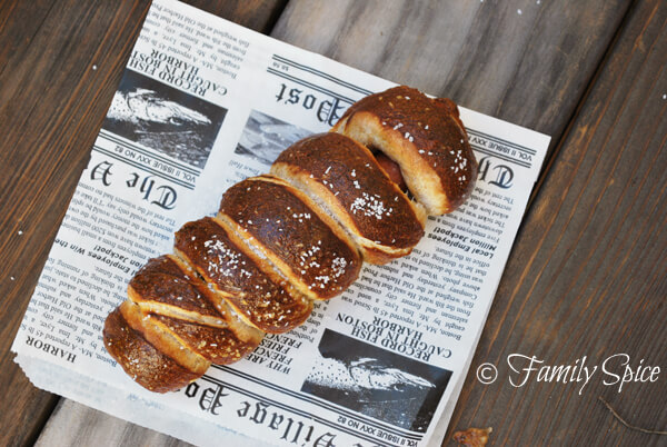 Whole Wheat Pretzel Dogs by FamilySpice.com