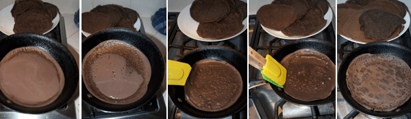 How to Make Dark Chocolate Crêpes with Blueberry Cream by FamilySpice.com
