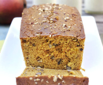 Whole Wheat Mango Bread with Pecans and Protein Powder by FamilySpice.com