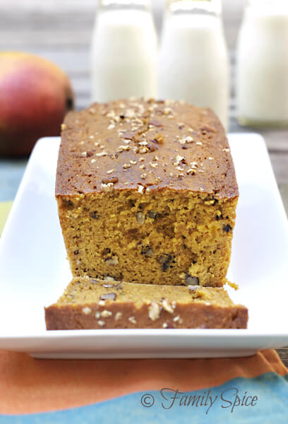 Back-To-School Eats: Whole Wheat Mango Bread with Pecans