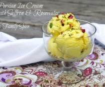 Persian Ice Cream with Saffron and Rose Water