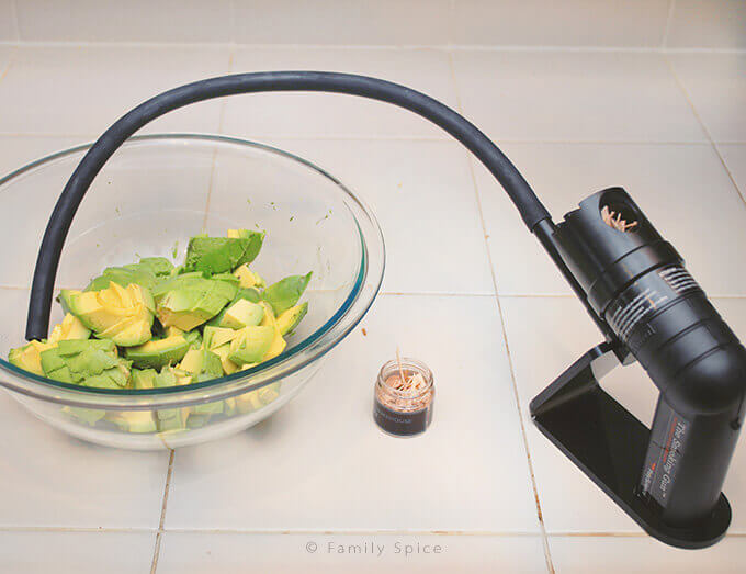 Using Smoking Gun to make Smoky Guacamole by FamilySpice.com