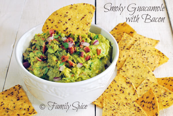 Football Eats: Smokey Guacamole with Bacon