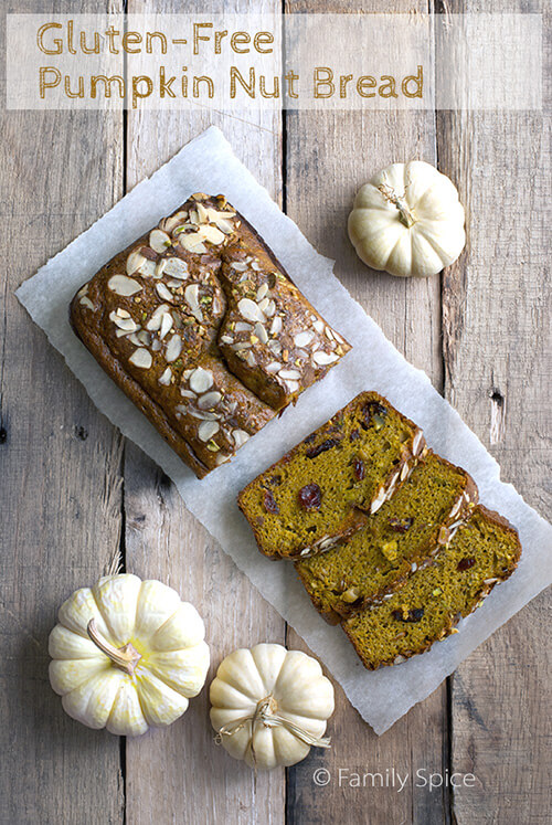Unprocessed and Gluten-Free Pumpkin Bread by FamilySpice.com