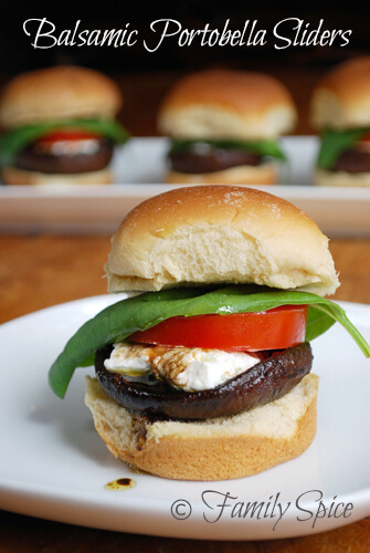 Easy Halloween Recipes For Your Block Party: Balsamic Portobella Sliders