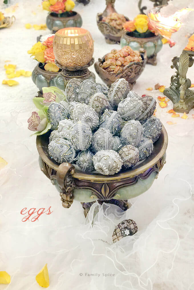 The Persian Wedding Ceremony and Sofreh: Decorated Eggs by FamilySpice.com