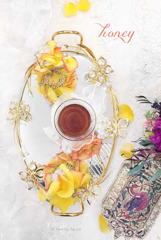 The Persian Wedding Ceremony and Sofreh: Honey by FamilySpice.com