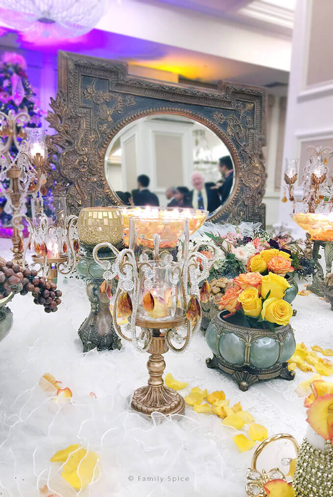 The Persian Wedding Ceremony and Sofreh: Candles and Mirror by FamilySpice.com