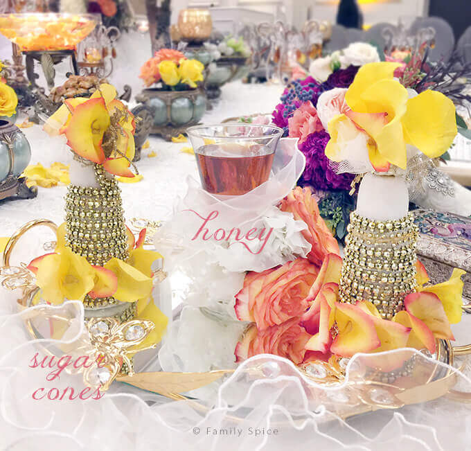 The Persian Wedding Ceremony and Sofreh: Honey and Sugar Cones by FamilySpice.com
