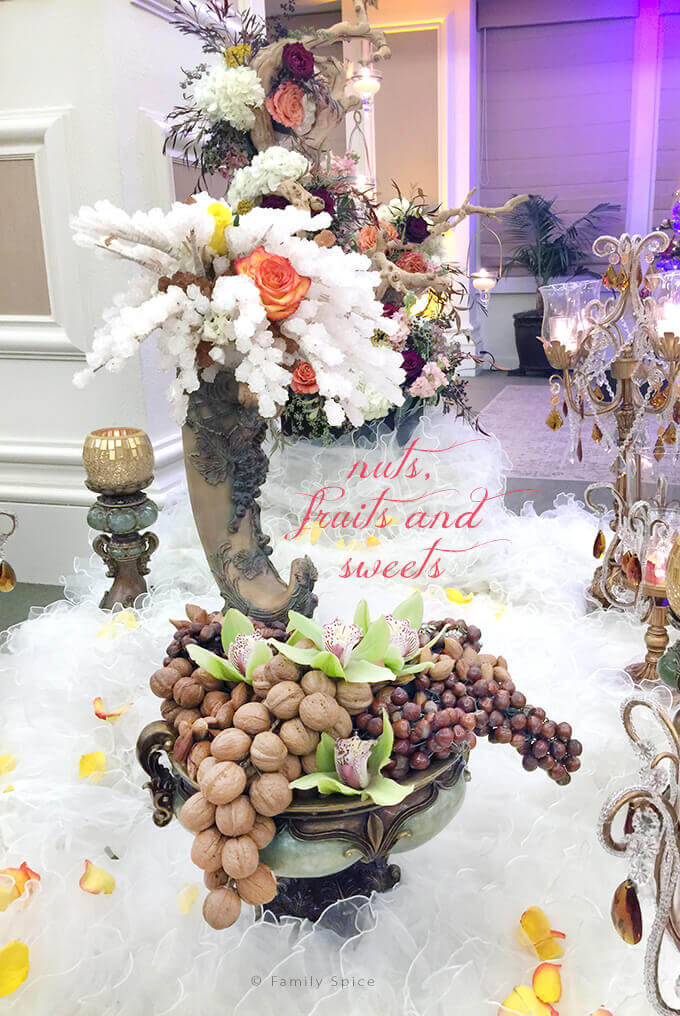The Persian Wedding Ceremony and Sofreh: Nuts, Fruits and Sweets by FamilySpice.com