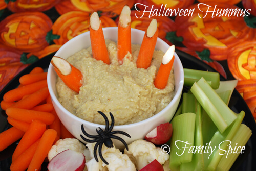 Easy Halloween Recipes For Your Block Party: Halloween Hummus