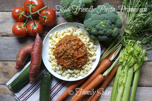 Kid Friendly Pasta Primavera by FamilySpice.com