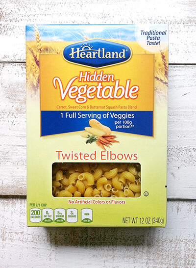 Heartland Hidden Vegetable Pasta with Kid Friendly Pasta Primavera