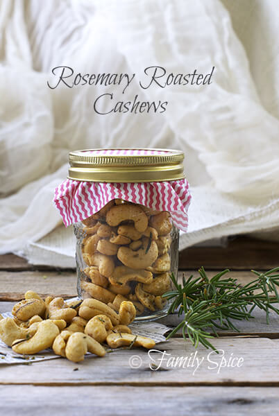 Homemade Holiday Gifts in a Jar: Roasted Rosemary Cashews