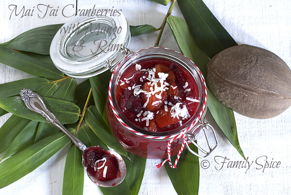Mai Tai Cranberries with Mango and Rum