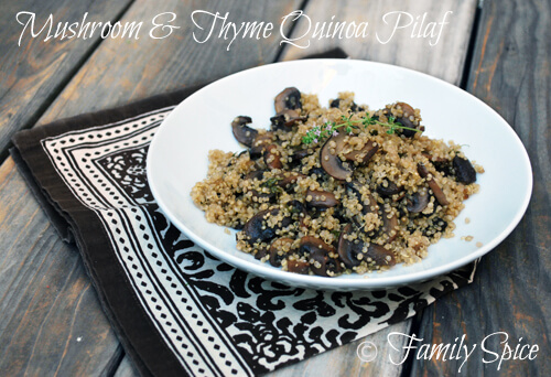 Quinoa Pilaf with Mushrooms and Thyme