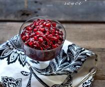 Pomegranate Cranberry Sauce by FamilySpice.com