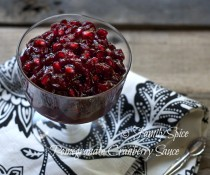 Pomegranate Cranberry Sauce