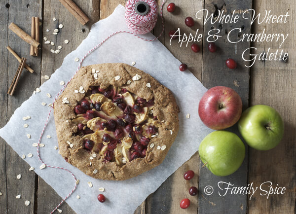Whole Wheat Galette with Apple and Cranberry