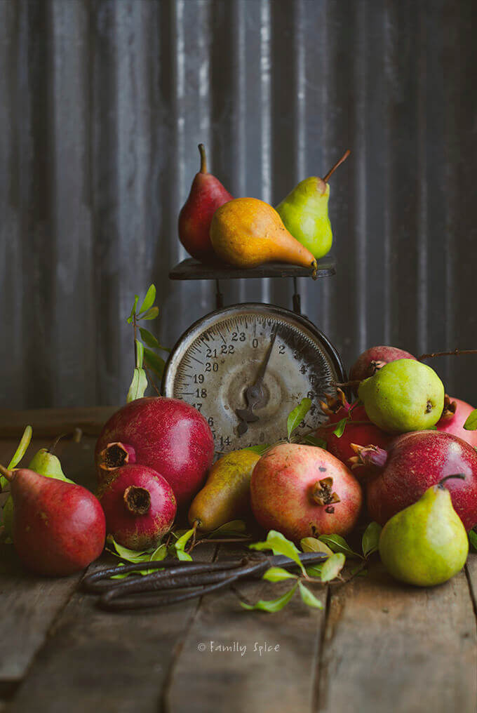 Pears and Pomegranates by FamilySpice.com