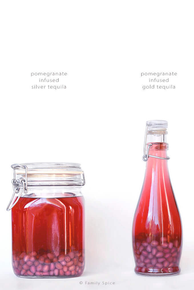 Making Pomegranate Tequila by FamilySpice.com