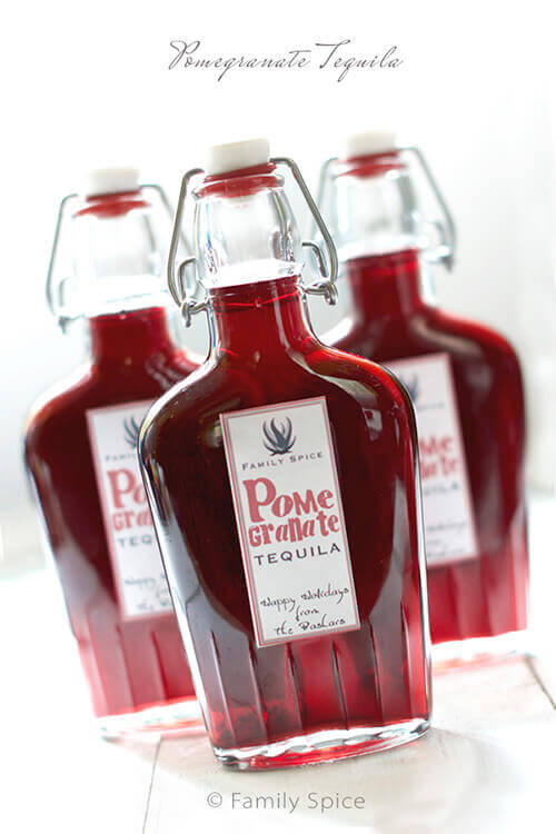 Homemade Gifts: Pomegranate Tequila by FamilySpice.com