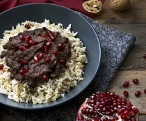 Persian Pomegranate and Walnut Stew (Fesenjoon) by FamilySpice.com
