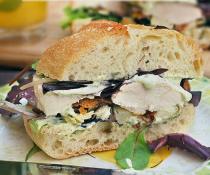Chicken Caesar Club Sandwich by FamilySpice.com