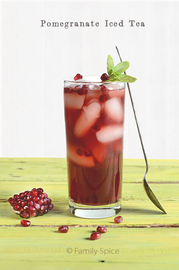 Pomegranate Iced Tea by FamilySpice.com