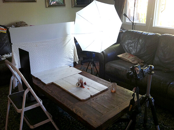 Food Photography Tips on a Budget: Photo Shoot Setup -- FamilySpice.com
