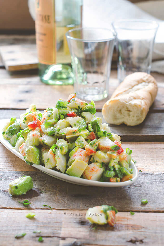 Avocado and Crab Salad with Seville Oranges by FamilySpice.com