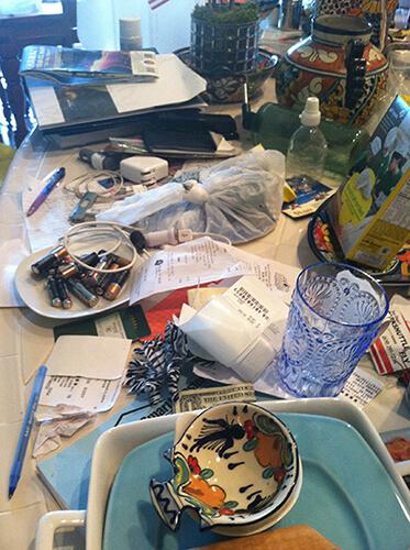 Messy countertop