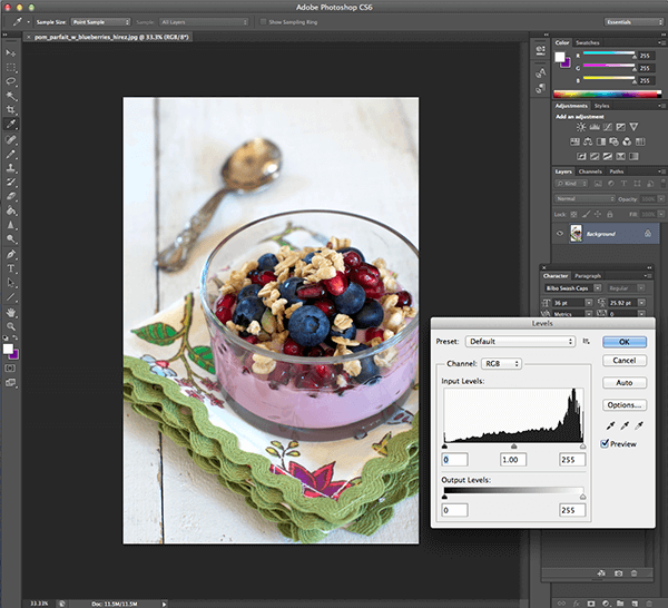 Food Photography Tips on a Budget: Photoshop