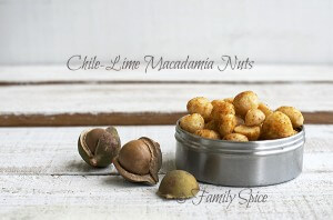 Lip Smacking Chile-Lime Macadamia Nuts