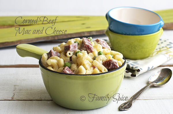 Leftover Corned Beef Mac and Cheese