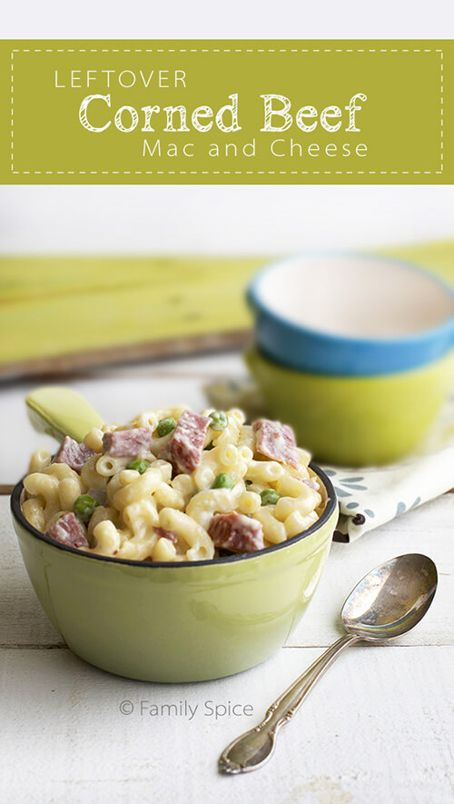 Leftover Corned Beef Mac and Cheese by Family Spice.com