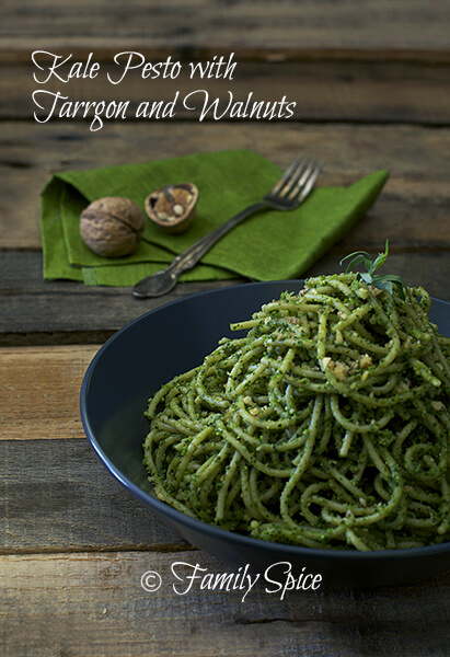 Kale Pesto with Tarragon and Walnuts