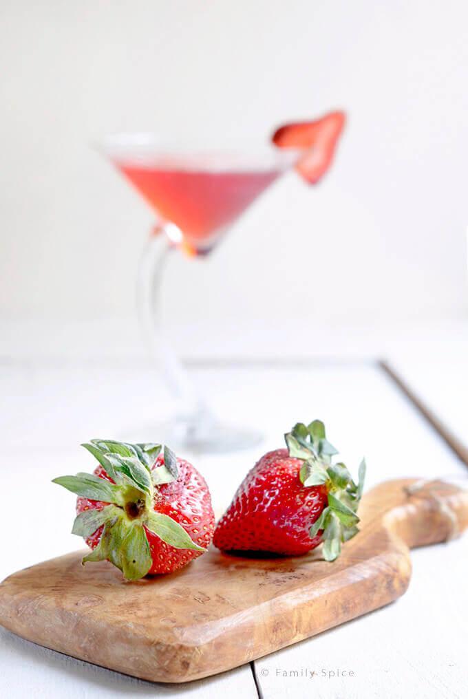 Strawberry Vodka for a Strawberry Martini by FamilySpice.com