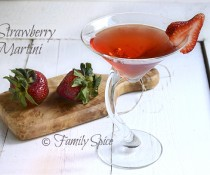 Strawberry Vodka Martini
