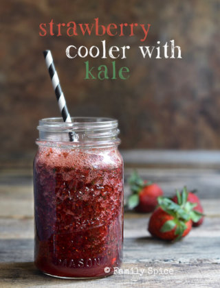 Strawberry, Kale and Pomegranate Cooler Thingie