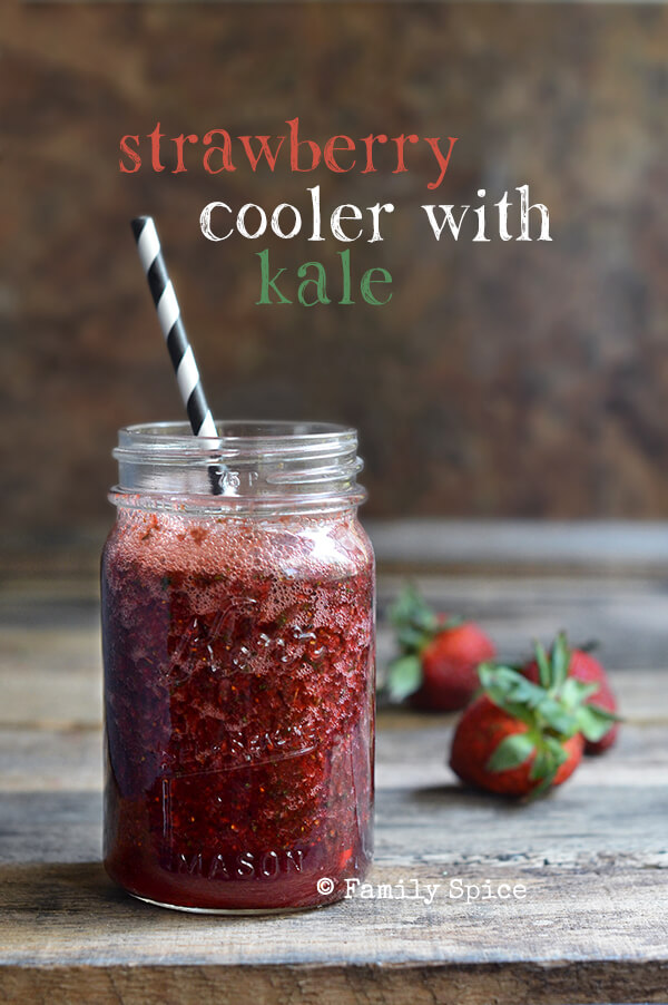 Strawberry, Kale and Pomegranate Cooler Thingie - Family Spice