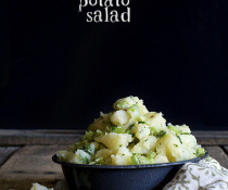 Mayo-Free Cider Vinegar Potato Salad by FamilySpice.com