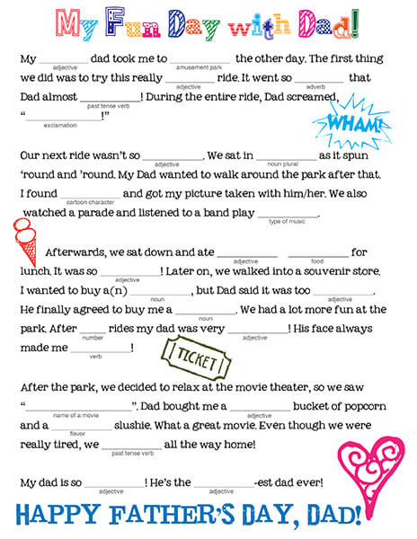 Father's Day Mad Libs by FamilySpice.com
