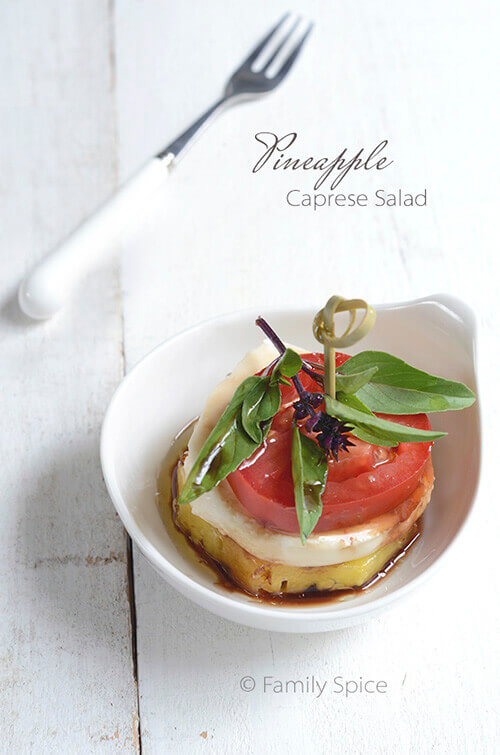 Pineapple Caprese Salad by FamilySpice.com
